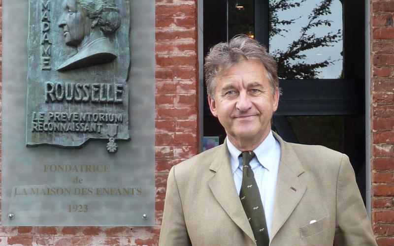 Bernard Collin, Président de l'Association Traits d'Union