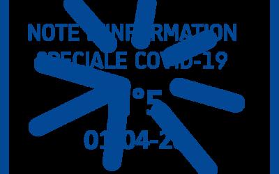 01-04-20-NOTE COVID-19 N°5 –  Port du masque obligatoire et contrôle de température