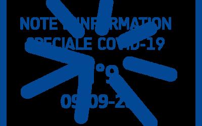 09-09-20-NOTE COVID-19 N°9 – Adaptation du protocole sanitaire à la rentrée 2020