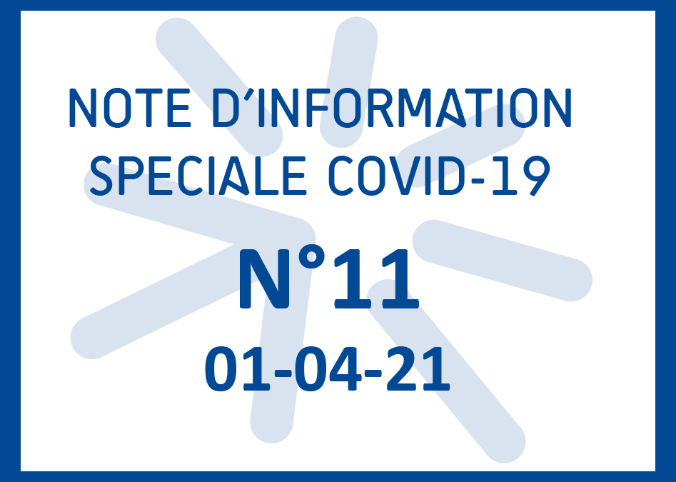 04-01-21-NOTE COVID-19 N°11 – Organisation générale